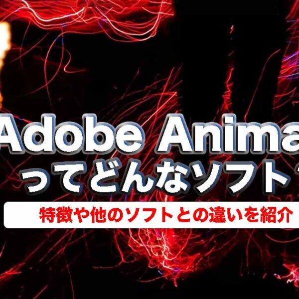 Adobe Animateってどんなソフト?特徴や他のソフトとの違いを紹介!
