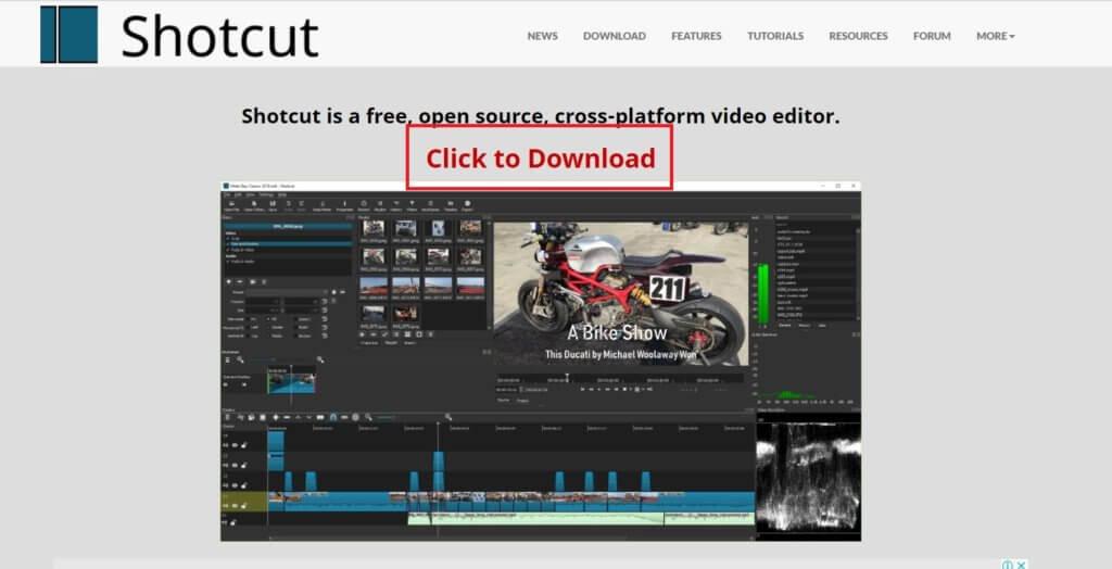 shotcut Click to Download