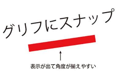 Adobe sensei グリフにスナップ 例